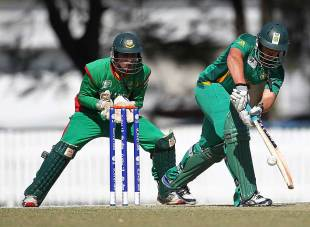 Quinton de Kock smashed 95 off 93 balls, South Africa v Bangladesh, Group D, ICC Under-19 World Cup 2012, Brisbane, August 12, 2012