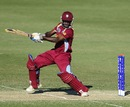Anthony Alleyne plays a square-drive, India v West Indies, Group C, ICC Under-19 World Cup 2012, Townsville, August 12, 2012
