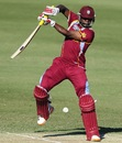 Kyle Mayers plays one on the off-side, India v West Indies, Group C, ICC Under-19 World Cup 2012, Townsville, August 12, 2012