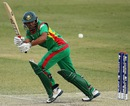 Anamul Haque plays a shot towards the leg-side