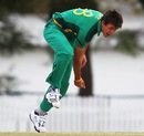 Corne Dry in his follow-through, South Africa v Bangladesh, Group D, ICC Under-19 World Cup 2012, Brisbane, August 12, 2012
