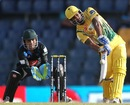 Chamara Kapugedera goes for a big shot, Uthura v Wayamba, SLPL, Colombo, August 12, 2012