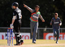 Sayed Shirzad picked up four top-order wickets, Afghanistan v New Zealand, Group B, ICC Under-19 World Cup 2012, Buderim, August 14, 2012