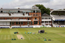 The Lord's outfield showed the after effects of the Olympic archery, Lord's, August 14, 2012