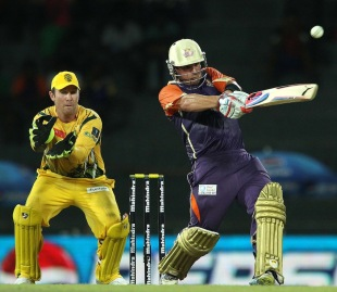 Aaron Finch plays the pull, Ruhuna Royals v Uthura Rudras, SLPL, Colombo, August 14, 2012