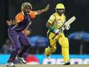 Lasith Malinga appeals for an lbw, Ruhuna Royals v Uthura Rudras, SLPL, Colombo, August 14, 2012
