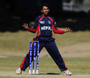 Nepal captain Prithu Baskota dismissed the Ireland openers, Ireland v Nepal, Group A, ICC Under-19 World Cup 2012, Townsville, August 15, 2012