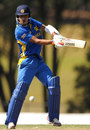 Pulina Tharanga plays a shot on the off side
