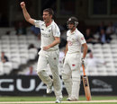 Tim Murtagh celebrates removing Rory Burns, Surrey v Middlesex, County Championship, The Oval. 1st day, August, 15, 2012