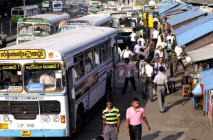 Take buses to travel between cities in Sri Lanka, but not to get around Colombo