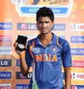Ravikant Singh took 5 for 21 to be adjudged the man of the match, India v Papua New Guinea, Group C, ICC Under-19 World Cup, Townsville, August 16, 2012