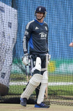 Kevin Pietersen at a nets session at Headingley, July 31, 2012