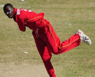 Wellington Masakadza managed to take a wicket but West Indies secured a comfortable victory