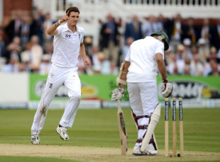 Steven Finn bowled Hashim Amla through the gate, England v South Africa, 3rd Investec Test, Lord's, 1st day, August 16, 2012