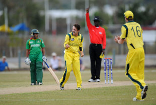 Travis Head picked up three wickets, Australia v Bangladesh, quarter-final, ICC Under-19 World Cup 2012, Townsville, August 19, 2012