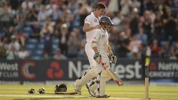 Kevin Pietersen with James Taylor