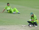 Wicketkeeper Salman Afridi is dejected after losing the quarter-final to India by one wicket