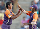 Imran Khan and Dilruwan Perera took five wickets between them, Kandurata Warriors v Ruhuna Royals, SLPL, Pallekele, August 20, 2012
