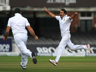 Imran Tahir enjoyed his success against Jonny Bairstow, England v South Africa, 3rd Investec Test, Lord's, 5th day, August 20, 2012