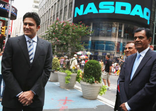 Anil Kumble rang the NASDAQ closing bell on August 17, New York, August 21 2012