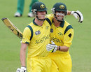 Ashton Turner and Alex Gregory celebrate Australia's semi-final win, Australia v South Africa, ICC Under-19 World Cup semi-final, Townsville, August 21, 2012