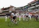 Matthew Maynard led a cycle ride from Cardiff to The Oval in memory of Tom Maynard, Surrey v Glamorgan, CB40, The Oval, August 21, 2012