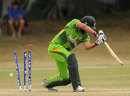 Pakistan's batsmen struggled in their chase of 183, Pakistan v West Indies, ICC Under-19 World Cup 5th place play-off semi-final, Townsville, August 22, 2012