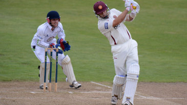 James Middlebrook hits out on the way to a half-century
