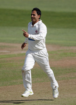 Abdur Rehman claimed the wicket of Murray Goodwin early on, Somerset v Sussex, County Championship, Division One, Taunton, August 22, 2012