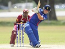 Sam Wood slogs towards mid-wicket, England v West Indies, ICC Under-19 World Cup, 5th place play-off, Townsville, August 24, 2012