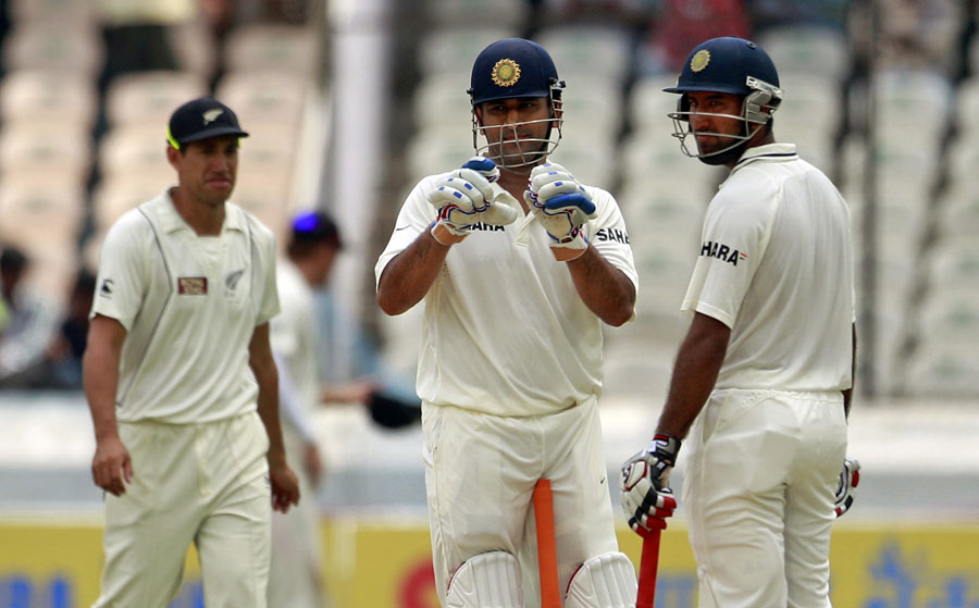 The Dhoni-Pujara stand put the pressure on Ross Taylor