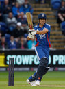 Alastair Cook plays a pull shot before the return of the rain, England v South Africa, 1st NatWest ODI, Cardiff, August 24, 2012