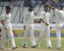 Indians celebrates Kruger van Wyk's wicket