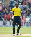 Dimitri Mascarenhas took 2 for 11 in his four overs, Hampshire v Somerset, Friends Life t20 semi-final, Cardiff, August 25, 2012