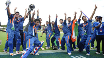 India Under-19s celebrate their World Cup triumph