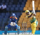 Chamara Kapugedera drives through the off-side, Uthura v Nagenahira, SLPL, Colombo, August 26, 2012