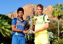William Bosisto and Unmukt Chand pose with the U-19 World Cup , Townsville, August 25, 2012
