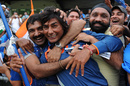 Kamal Passi celebrates the win with some Indian fans, Australia v India, ICC U-19 World Cup, final, Townsville, August 26, 2012