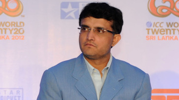 Sourav Ganguly at a press conference on the ICC World T20