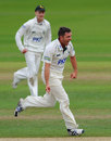 Paul Franks celebrates a dismissal, Warwickshire v Nottinghamshire, County Championship, Division One, Edgbaston, 1st day, August 28, 2012
