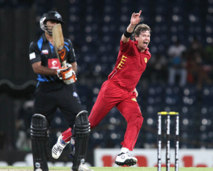 Jacob Oram celebrates a wicket, Wayamba v Uva, SLPL, 1st semi-final, Colombo, August 28, 2012