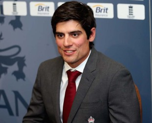 Alastair Cook at a press conference at Lord's as he was appointed England's Test captain, London, August 29, 2012