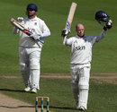 Tim Ambrose celebrates his hundred, Warwickshire v Nottinghamshire, County Championship, Division One, Edgbaston, August 30, 2012