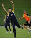 Michael Clarke during a training session