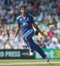 Jade Dernbach enjoyed dismissing Hashim Amla at his home ground