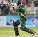 Nasir Jamshed cuts during his 97
