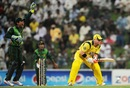David Warner falls LBW to Saeed Ajmal, Pakistan v Australia, 2nd ODI, Abu Dhabi, August 31, 2012