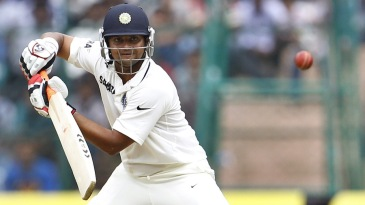 Suresh Raina guides one towards the off-side