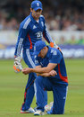 James Tredwell put down two catches at slip