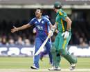 Ravi Bopara had a big lbw appeal against Hashim Amla turned down